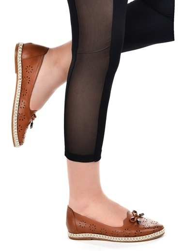 Ayakland Ayakland 139-45 Günlük Anatomik Bayan Babet Ayakkabı Taba